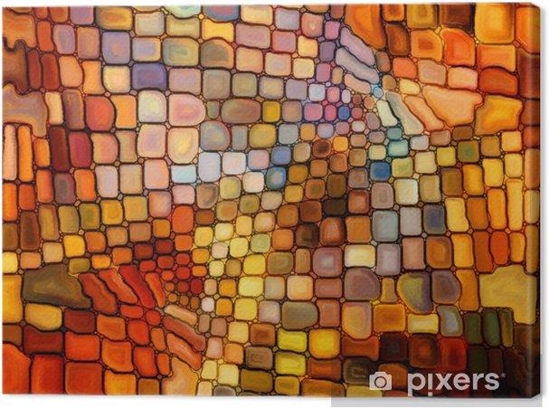 Lerretsbilde Illusjon av farget glass -