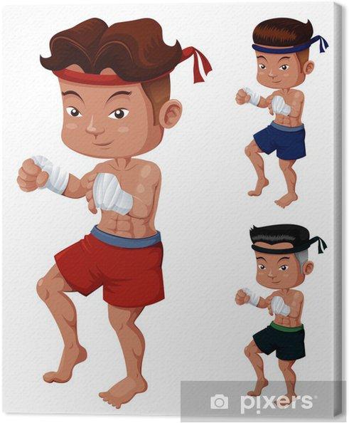 2dd3626b Lerretsbilde Illustrasjon av Thai Boxing • Pixers® - Vi lever for ...
