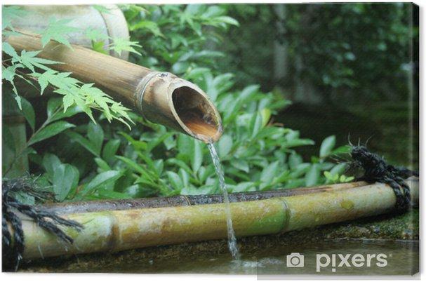 Lerretsbilde Japansk Bambus Fontene Pixers Vi Lever For Forandring