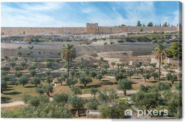 Lerretsbilde Jerusalem gamle vegger, Israel - Midtøsten