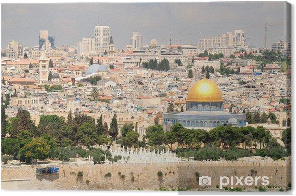 Lerretsbilde Jerusalem landskap som sett fra olivenbjerget. - Midtøsten