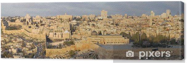 Lerretsbilde Jerusalem - Panoramaet fra Oljeberget - Midtøsten