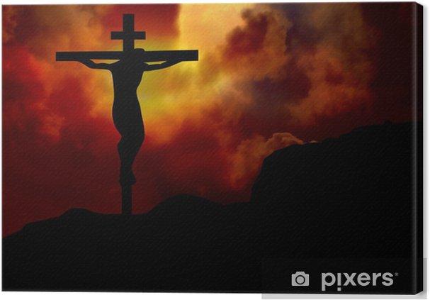 00eaf0d5 Lerretsbilde Jesus på korset • Pixers® - Vi lever for forandring