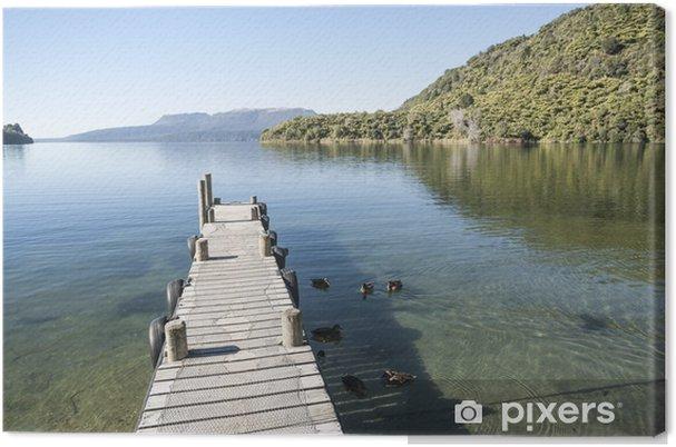 Lerretsbilde Kai på Lake Tarawera - Oseania
