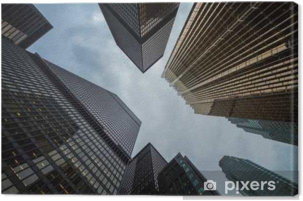 Lerretsbilde Kanadiske Toronto by fantastisk skyskrapere perspektiv - Bygg og Arkitektur