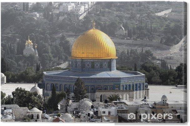 Lerretsbilde Kjernehøyden i Jerusalem, Israel - Midtøsten