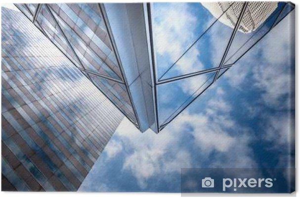 Lerretsbilde Kommersielle bygninger strekker seg opp til himmelen i Hong Kong - Bygg og Arkitektur