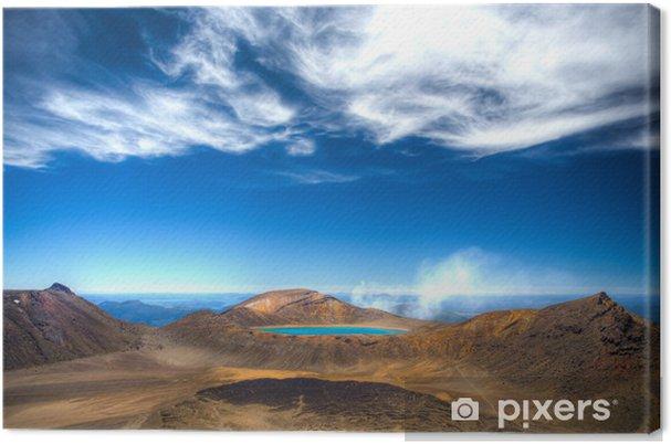Lerretsbilde Lake Blue Tongariro i Neuseeland - Oseania