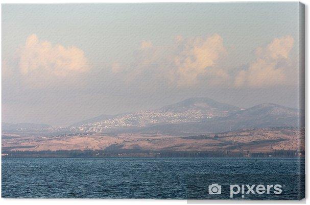 Lerretsbilde Lake Kinneret ved daggry - Midtøsten