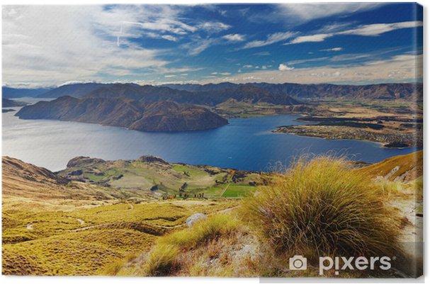 Lerretsbilde Lake Wanaka, New Zealand - Panorama