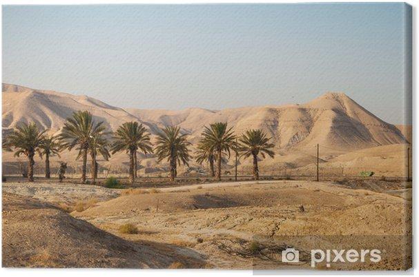 Lerretsbilde Landskap med Judean Mountains og Judean Desert i Israel - Desert