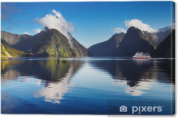 Lerretsbilde Milford lyd, New Zealand -