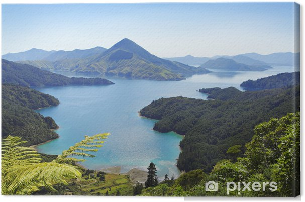 Lerretsbilde Neuseeland, Malborough Sounds - Oseania