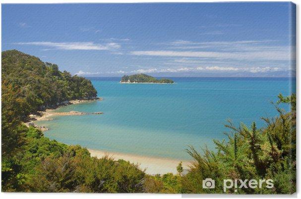 Lerretsbilde New Zealand Landskap. Abel Tasman nasjonalpark. - Oseania