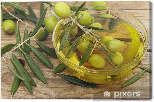 08546e25b Lerretsbilde Olivenolje og oliven