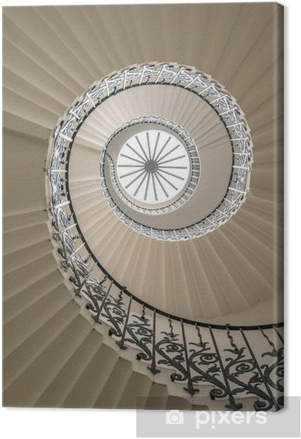 Lerretsbilde Oppsiden av en spiraltrapp -