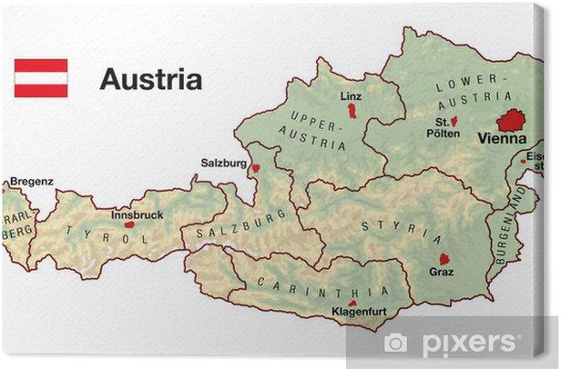 Lerretsbilde Osterrike Kart Pixers Vi Lever For Forandring