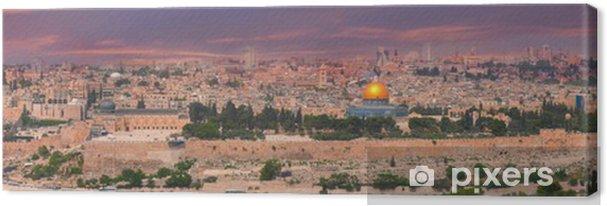 Lerretsbilde Panorama over Jerusalem, Israel - Midtøsten