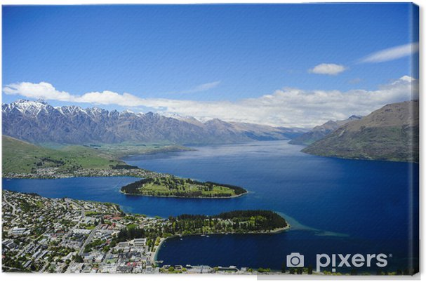 Lerretsbilde Queenstown og Lake Wakatipu -