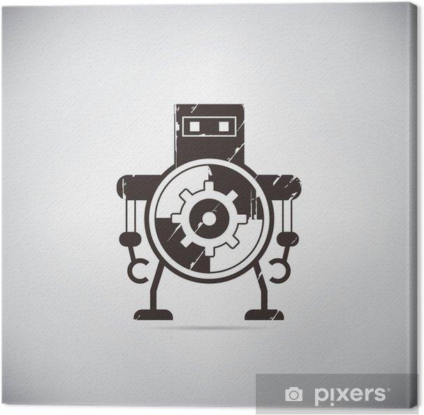 Lerretsbilde Retro robot tegneserie - Hobby og Fritid