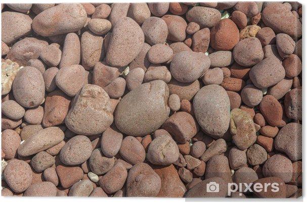ba554024 Lerretsbilde Rød grus bakgrunn • Pixers® - Vi lever for forandring