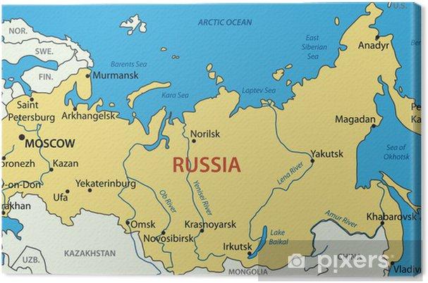 russland kart Lerretsbilde Russland   vektor kart • Pixers®   Vi lever for