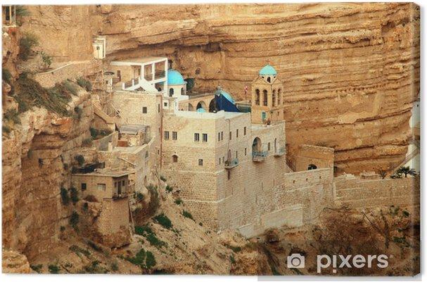 Lerretsbilde Saint george kloster, wadi kel jericho, israel - Midtøsten