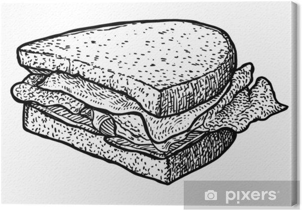 fbb58c52a5c9 Lerretsbilde Sandwich illustrasjon