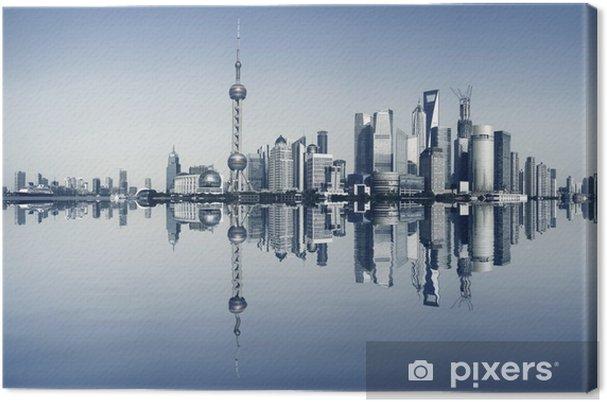 Lerretsbilde Shanghai bund på byens panoramautsikt over horisonten -