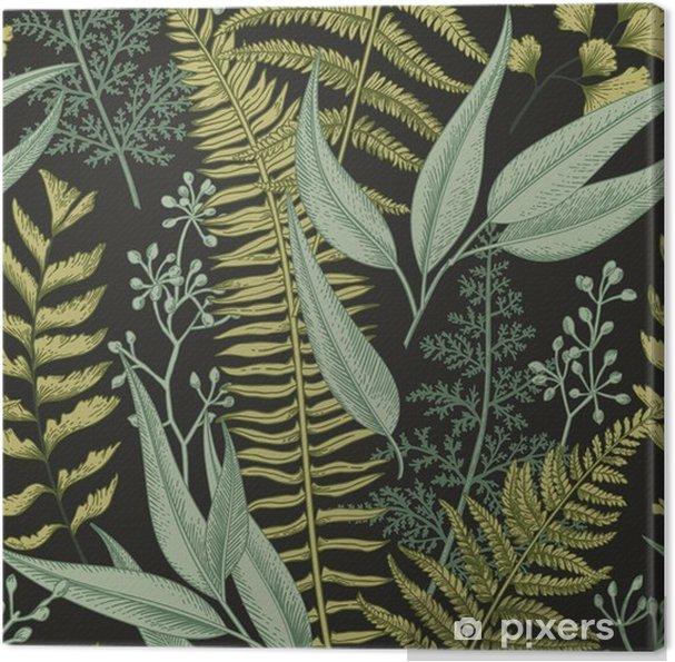 Lerretsbilde Sømløs blomstermønster i vintage stil. - Grafiske Ressurser