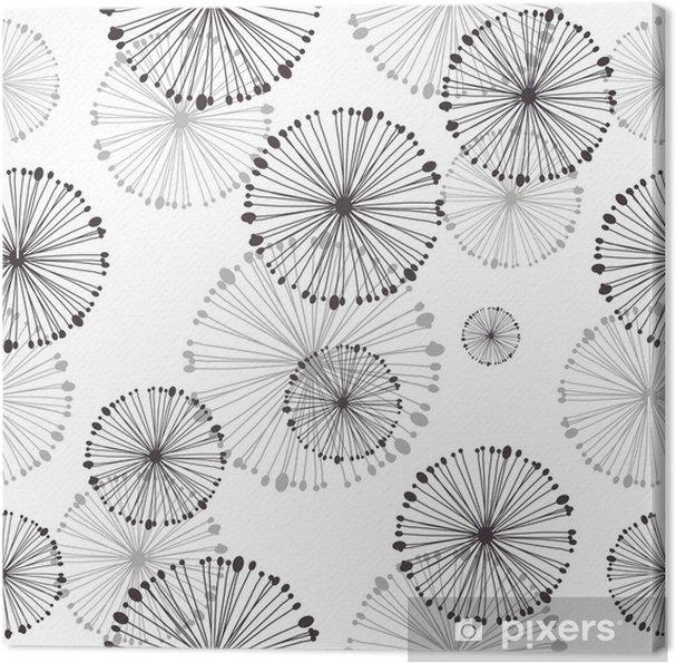 Lerretsbilde Sømløs mønster av løvetann - Styles