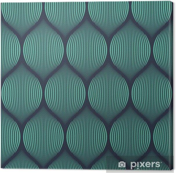 Lerretsbilde Sømløs neonblå optisk illusjon vevd mønstervektor -
