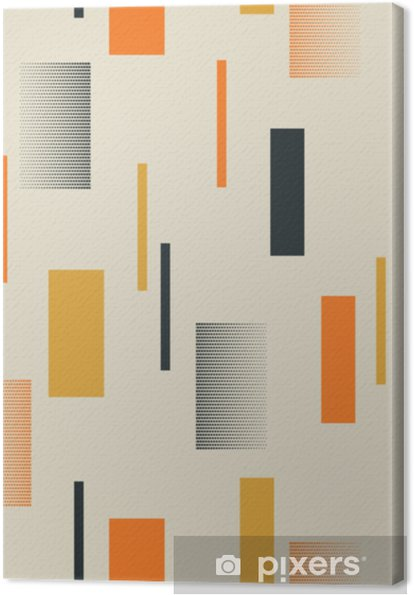 Lerretsbilde Sømløs retro mønster med striper - Grafiske Ressurser