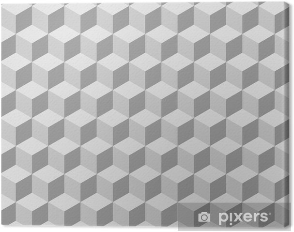 Lerretsbilde Sømløs tilable 3d isometrisk kube mønster - Illusion