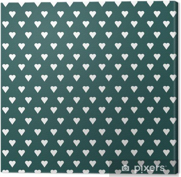 Lerretsbilde Sømløs vektor mønster med hvite hjerter på pastell bakgrunn - Grafiske Ressurser