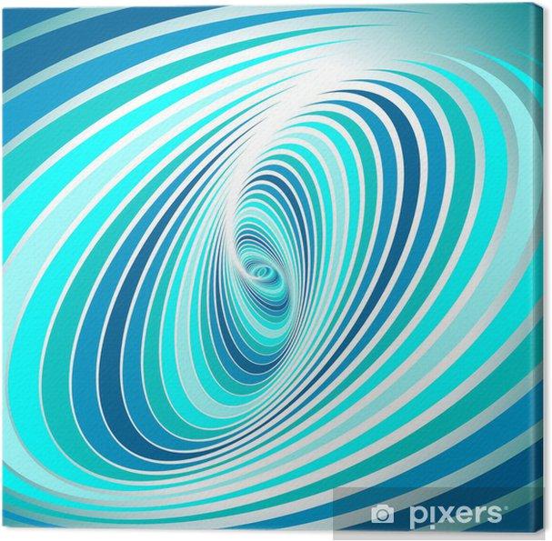 Lerretsbilde Spiral virvelbevegelse. Abstrakt bakgrunn. -