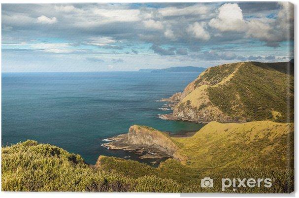 Lerretsbilde Spiritsbukten ved Cape Reinga (New Zealand - langt nord), hvor -