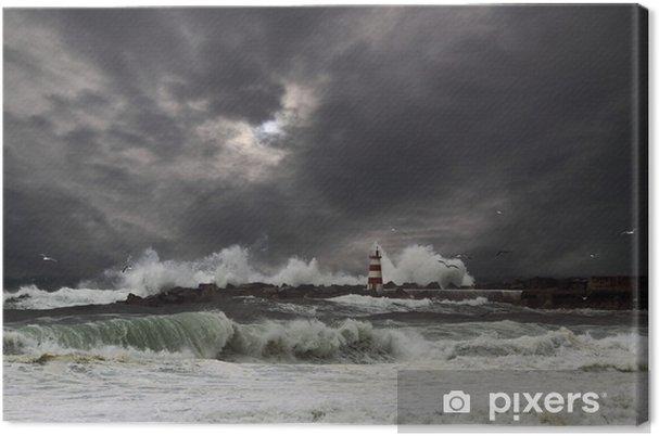Lerretsbilde Storm - Vann