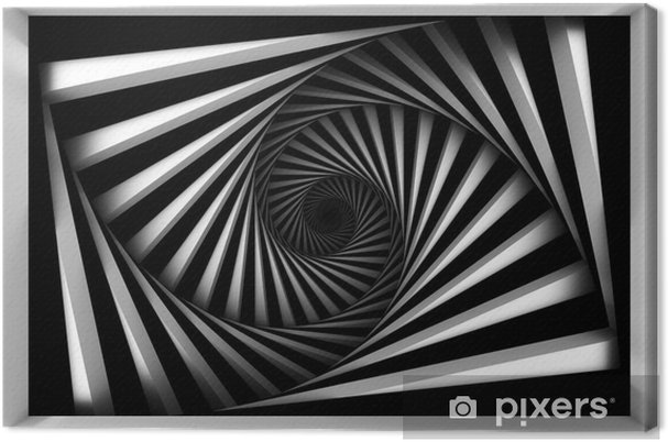 Lerretsbilde Svart og hvit spiral -