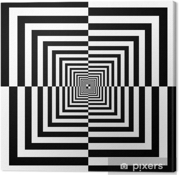Lerretsbilde Svart og hvitt firkanter -