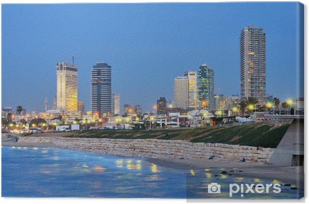 Lerretsbilde Tel Aviv Middelhavet Skyline - Midtøsten