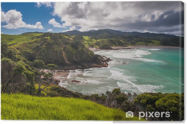 Lerretsbilde Tilbaketrukket strendene i Bay of Islands, Northland New Zealand - Oseania