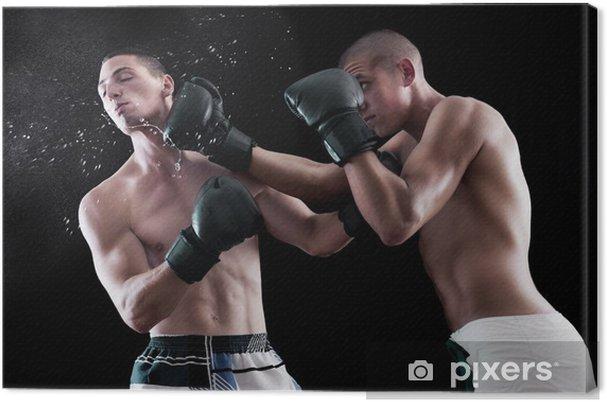 75371233 Lerretsbilde To mann boksing • Pixers® - Vi lever for forandring