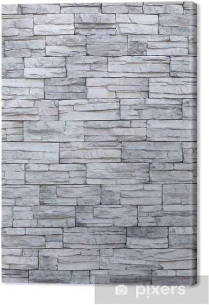 4fbdd4b08 Lerretsbilde Tynn stein mur