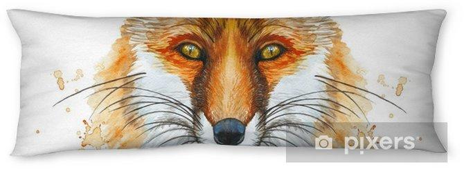 Lichaamskussen Beschilderd met een aquarel tekening van een rode vos, het hoofd van een vos, voor printshop, interessant decor, een heldere dierenfoto - Dieren