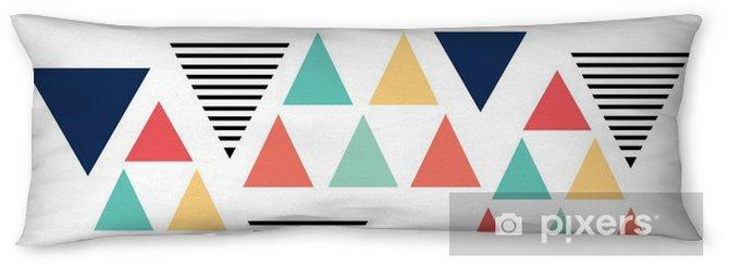 Lichaamskussen Driehoekspatroon kleurvariatie - Grafische Bronnen