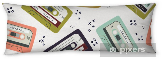 Lichaamskussen Hand getrokken cassette naadloze patroon - Technologie