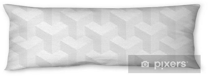 Lichaamskussen Isometrisch naadloos patroon. 3D optische illusie achtergrond. - Grafische Bronnen