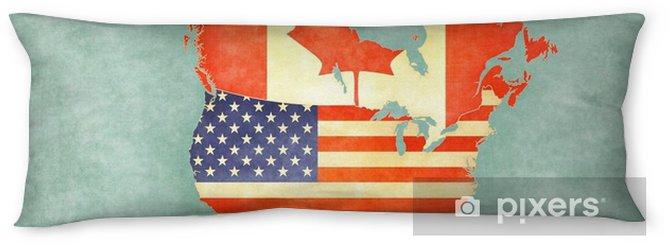 Lichaamskussen Kaart van Noord-Amerika - Verenigde Staten en Canada (vintage-serie) - Reizen