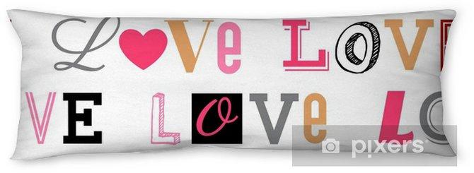 Lichaamskussen Naadloze patroon van word love typografie ontwerp achtergrond - Grafische Bronnen